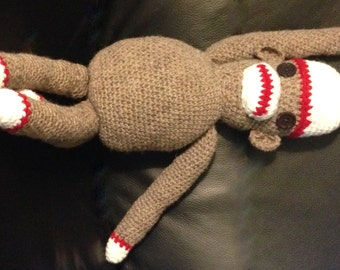 STUFFED SOCK MONKEY  Crochet   For all ages  Boy or Girl