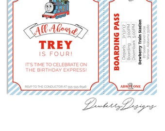 Thomas The Train Birthday Invitation / Thomas Invite / Classic / Train Invitation / Transportation Birthday Invitation / First Birthday