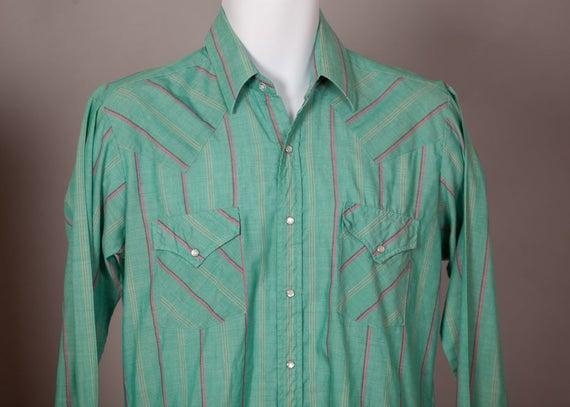 935d862767 Vintage Country Western Men's Button Down Cowboy Shirt