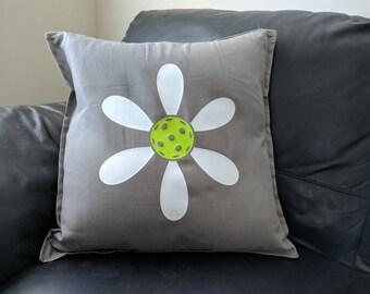 Pickleball Flower Pillow Cover