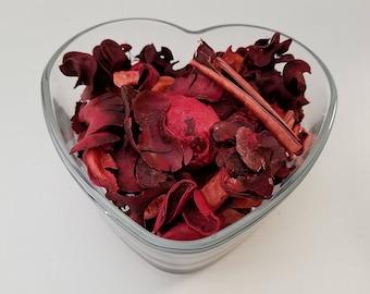 heart shape potpourri dish