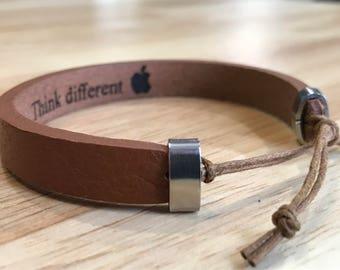 FREE SHIPPING-Men's Bracelet,Men's Leather Bracelet,Bracelet For Men,Leather Bracelet,Personalized Leather Bracelet,Custom Leather Bracelet