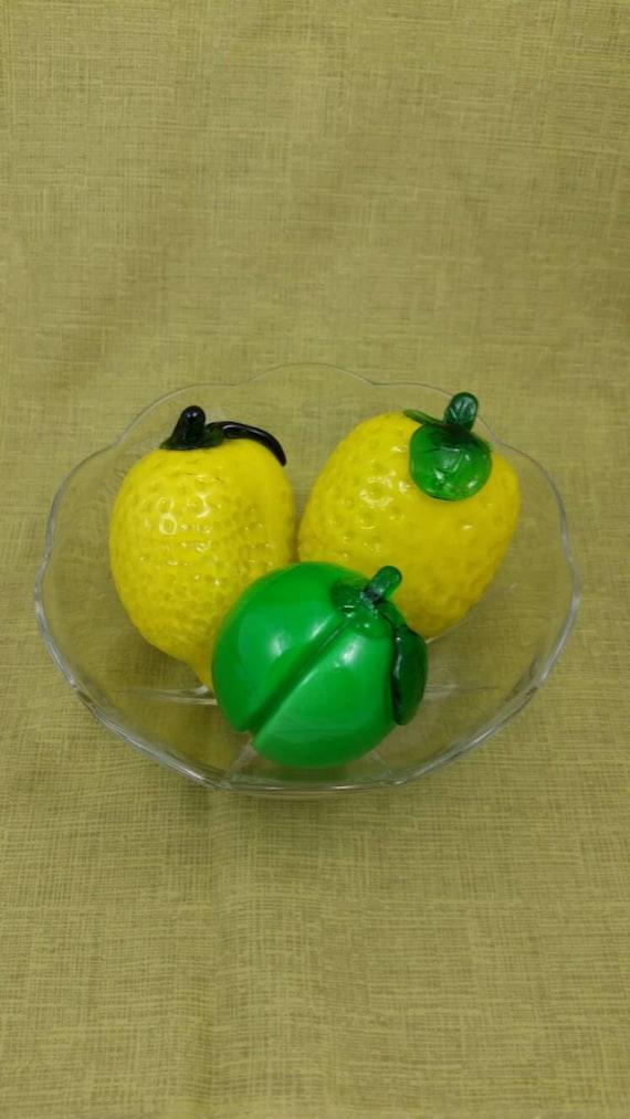 Siglo mediados de cosecha frutas centro de mesa Murano cristal