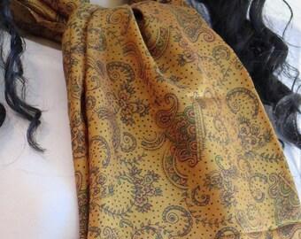 Autumn Silk scarf