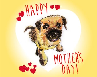 Border Terrier Mothers Day Card