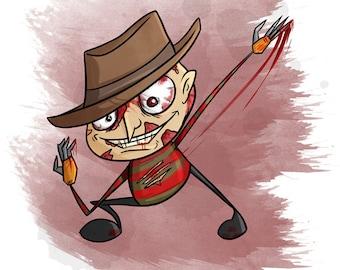 Lil Freddy Inspired - Horror Film Fan Art  [ Print ] - by Denis Caron - Corvink