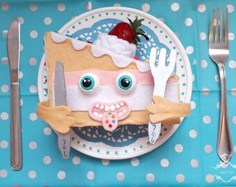 Funny picture of gluttony cake