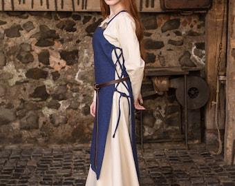 Burgschneider Medieval Viking Cotton Apron Dress Gyda
