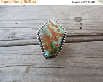 ON SALE Turquoise ring handmade in sterling silver