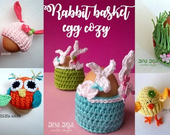 Egg cozy bundle - Easter crochet patterns