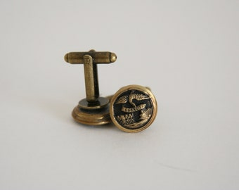 Essayons Cuff Links US Army Corps of Engineers Cufflinks - made with vintage military buttons