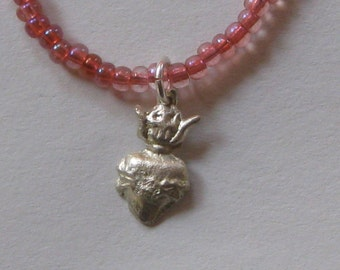 Milagro Necklace -- Sacred Heart