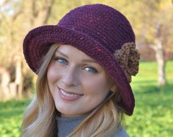 CROCHET PATTERN Ladies Hat Downton Abbey Cloche Hat Easy Crochet Hat Pattern Instant download PDF Digital Pattern