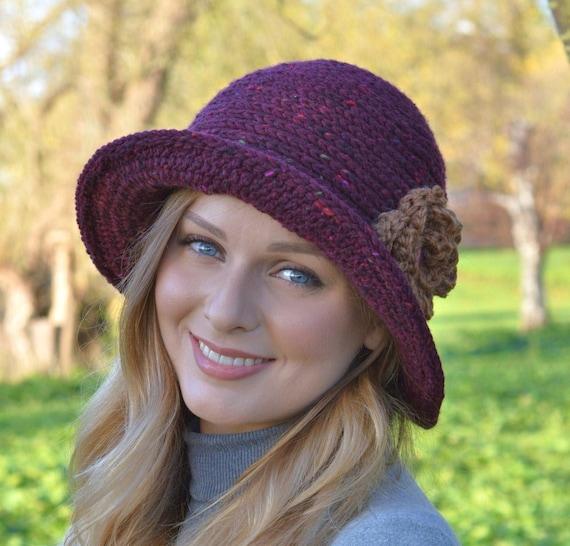 CROCHET PATTERN Ladies Hat Downton Abbey Cloche Hat Easy