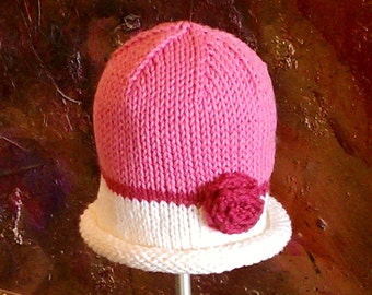 PDF PATTERN: Vera Rose Hat For Infants, Toddlers & Children