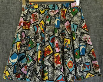 Loteria print twirly skirt - girls size 6/8 * girls day of the dead clothing * Loteria clothing * Loteria skirt * Childrens Mexican Loteria