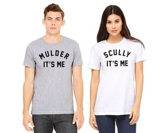 Mulder Its Me Shirt, Funny X-Files Shirt, Scully Its Me Shirt, Geeky Couples Shirt, Sci Fi Fans, Geek Gift, Nerd Gift, X Files Fan