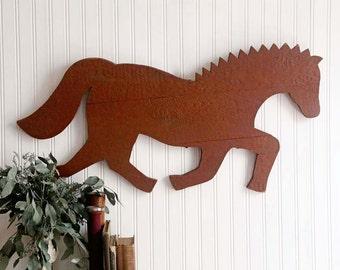 Rustic Horse Wood Sign, Vintage Wood Horse Wall Art, Rustic Home Decor, Wooden Horse Sign, Rustic Farmhouse Decor, Fixer Upper Decor