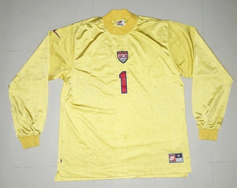 Vintage USA 1996 Goalkeeper Soccer Jersey football shirt M