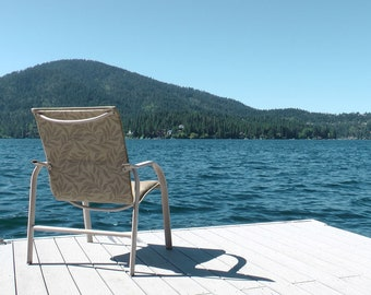 Chair On A Boat Dock On A Lake In Idaho [DIGITAL DOWNLOAD)