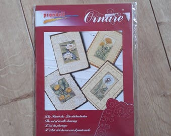 Ornare Pricking Sheet Pack, Ornare The Art Of Needle Drawing, Ornare Flowers II Paper Pricking Pack, Ornare Flowers II