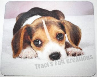 Mouse Pads, Mousepads, Home Office Decor, Desk Accessory Mousepad,Computer Mouse Pad Accessories,Beagle, Beagle Pup, Cute Dog, Puppies