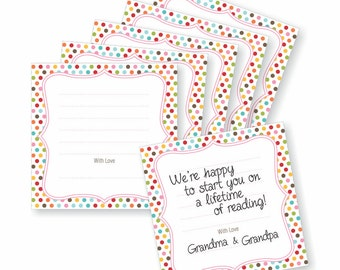 Bookplate for a Book Theme Baby Shower Invitation, Instant Download, Bring A Book Invite, Build a Library YOU print, Printable,