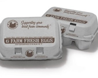 Farm Fresh Egg Carton- Set of 6