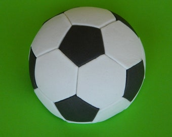 1 edible large 3D SOCCER FOOTBALL sports ball cake topper decorations wedding anniversary birthday