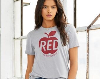 Red 'til November : UNISEX Crew Neck T-Shirt