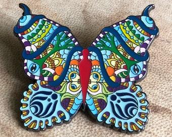 Bassnectar Butterfly hat pin