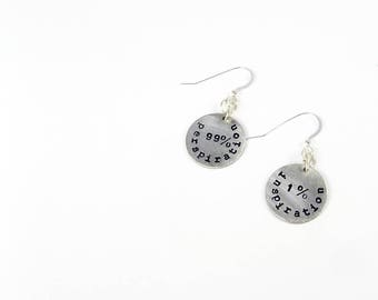 Quote Earrings - Genius and Inspiration Quotation by Thomas Edison for Scientists, Artists, Writers, Teachers