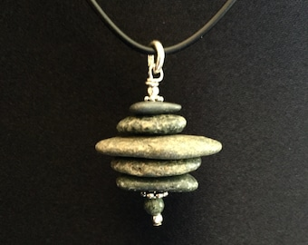 Lake Superior Stone Cairn Necklace