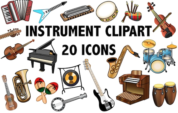 instrument clipart band clipart music clip art instrument rh etsy com instruments clip art free clipart instruments pictures