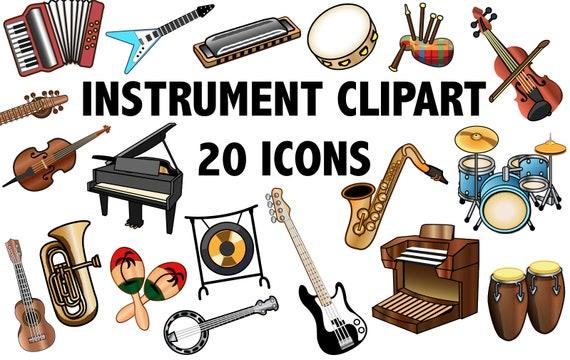 instrument clipart band clipart music clip art instrument rh etsy com musical instrument clip art jpeg musical instruments clip art pictures