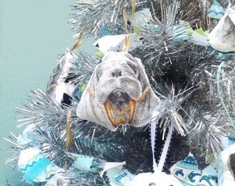 Walrus Ornament, Animal Christmas Ornament, Animal Lover's Gift, Holiday Tree Decor