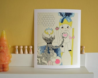 Always Let Your Heart Rule. Giclee fine art print for small and grown up kids :)