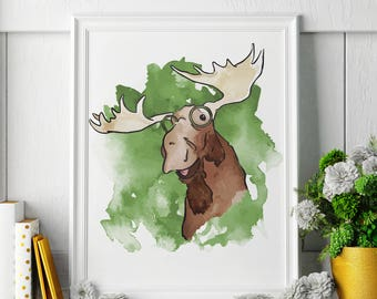 Moose - Moose Painting - Moose Art - Moose Painting - Moose Print - Moose Fine Art Print