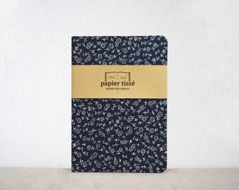 Blue flowered notebook