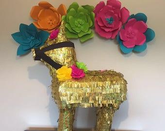 Donkey Pinata 3D Large (Metallic Gold)