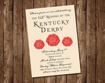 Elegant Kentucky Derby Party Invitation