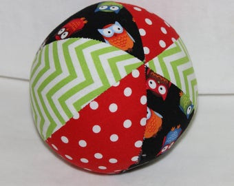 Small Black Owls Boutique Ball Rattle Toy