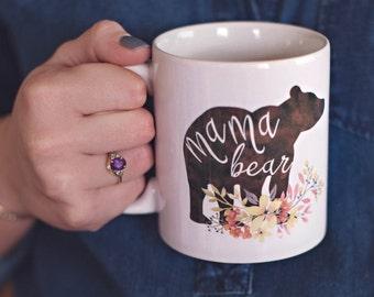 Baby Shower Gifts Under 15 ~ Mothers day coffee mug mama bear mug gift for mom