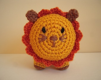 Crocheted Stuffed Amigurumi Lion