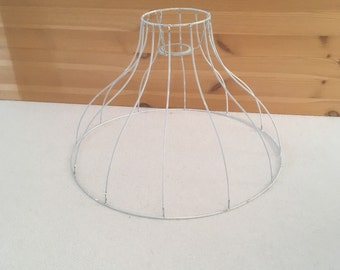 Wire lampshade frame etsy au vintage lampshade wireframe h 26cm top 11cm bottom 40cm keyboard keysfo Image collections