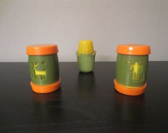 Vintage Plastic Salt and Pepper Shakers