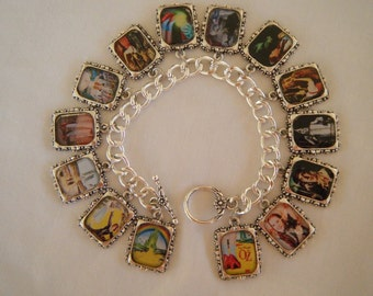 Wizard of Oz Altered Art Charm Bracelet