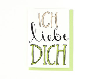 ich liebe dich in deutsche karte f r ihn oder sie. Black Bedroom Furniture Sets. Home Design Ideas