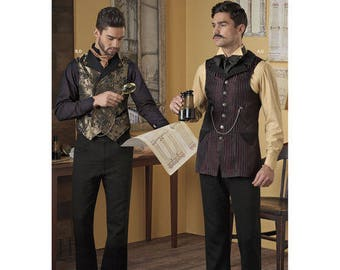 Sewing Pattern for Men's Shirt and Vests, Simplicity Pattern 8408, Men's Steampunk Costumes, Arkivestry Haunt Couture