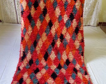 Moroccan vintage berber rug ,  240x100 cm